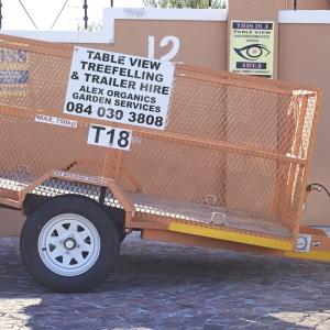 Mesh trailer 2.4 m x 1.5m x 1m light